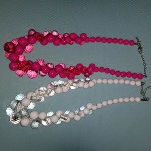 Beautiful chunky plastic beaded necklaces